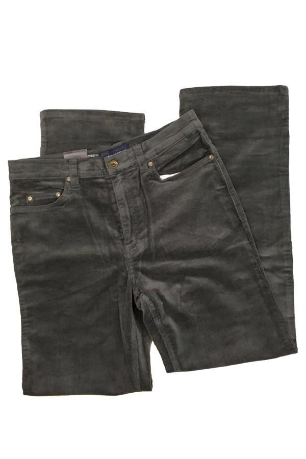 Férfi sötétszürke kordbársony nadrág